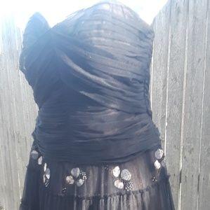 Gorgeous BCBGMAXAZARIA Black Formal Dress M See👇